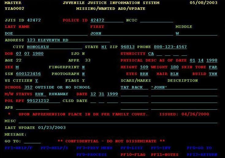 national crime information center ncic code manual