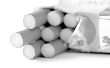 Image of a pack of cigarettes.